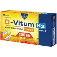 Maisto papildas D-VITUM FORTE 2000+K2 (36 kaps.)
