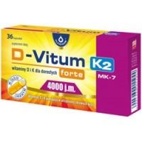 Maisto papildas D Vitum forte 4000+K2 (36 kaps.)